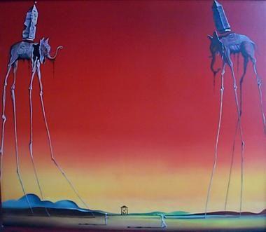 Les Elephants - Salvador Dalí