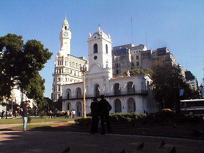 El Cabildo y la torre de la Legislatura