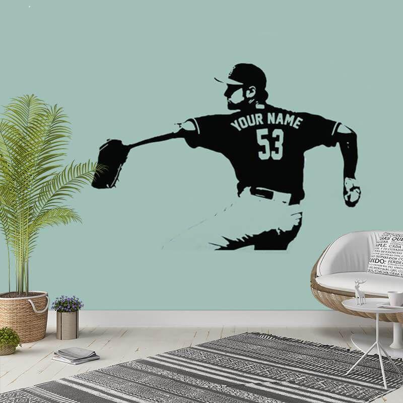 Best Baseball Player Custom Name Decal Baseball Wallpaper 400 x 300