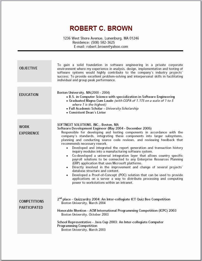 Social Work Resume Objective Statements Elegant Sample Entry Level