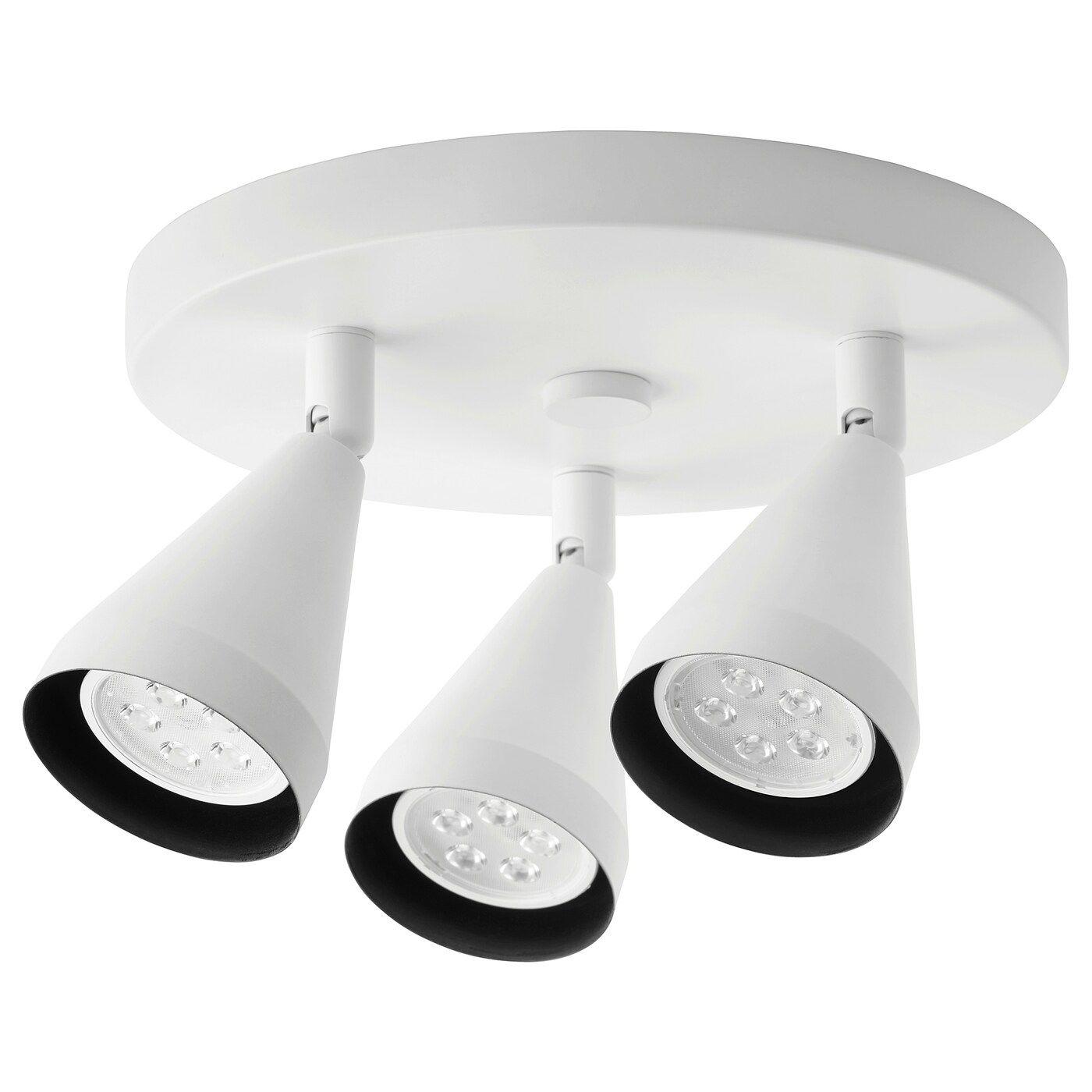 Navlinge Ceiling Spotlight With 3 Lights White Ikea In 2020 Ceiling Spotlights Led Ceiling Spotlights Ceiling Lamp