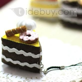 Delicious Fan-shaped Nonwoven Pendants of Mini Cakes Artifacts