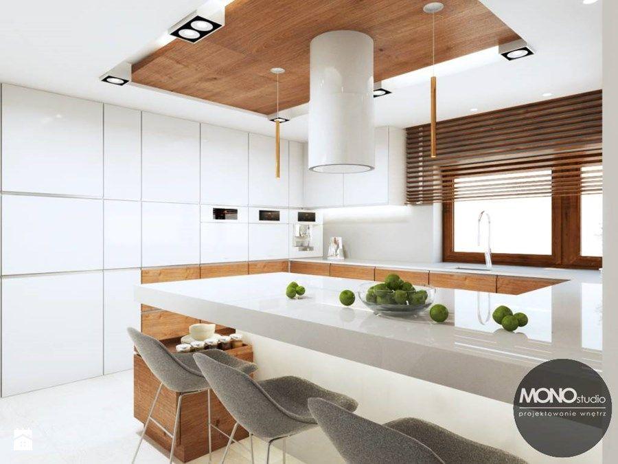 Kuchnia w nowoczesnym klimacie - zdjęcie od MONOstudio white kitchen ...