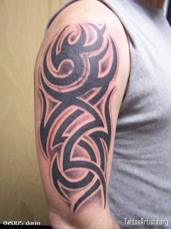 Another shaded tribal | Tattoos | Pinterest | Tattoo, Mom ...