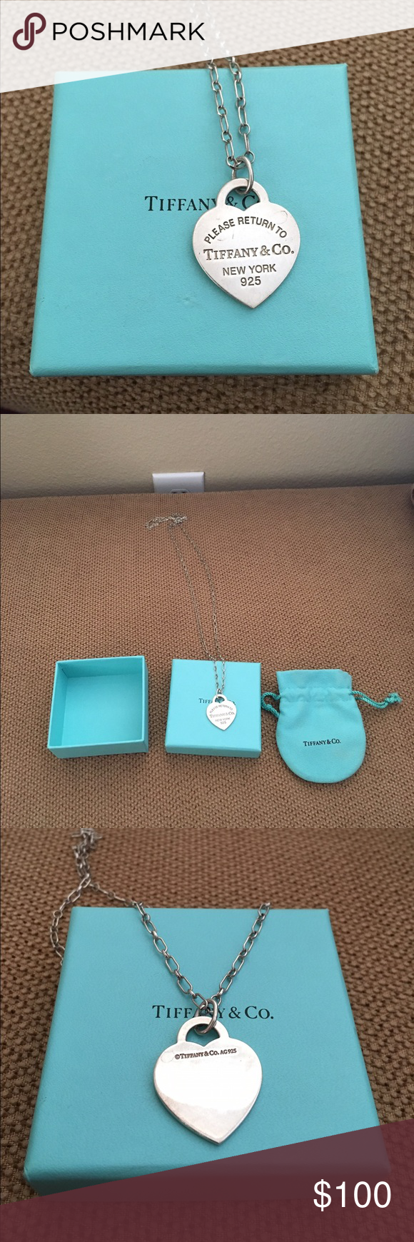 Authentic Tiffany Necklace 30 in chain, all in good condition Tiffany & Co. Jewelry Necklaces