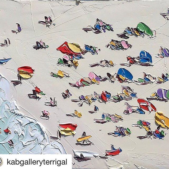 "#Repost @kabgalleryterrigal with @repostapp ・・・ Today was certainly a ""Scorcher""! What did you do to escape the heat? #sallywest #painted #thesydneysummer #freshwater #sydneysummer #art #artobsession #paintobsessed #interiorlovers #texturepainting #oilpaint #inspirational #contemporaryart #texture #heatwave #sydneyheatwave #sunbakers #beachlife #beachumbrella #sun #paintlife #melting #fortheloveofart #bake #fry #cookinginthesun #terrigal"