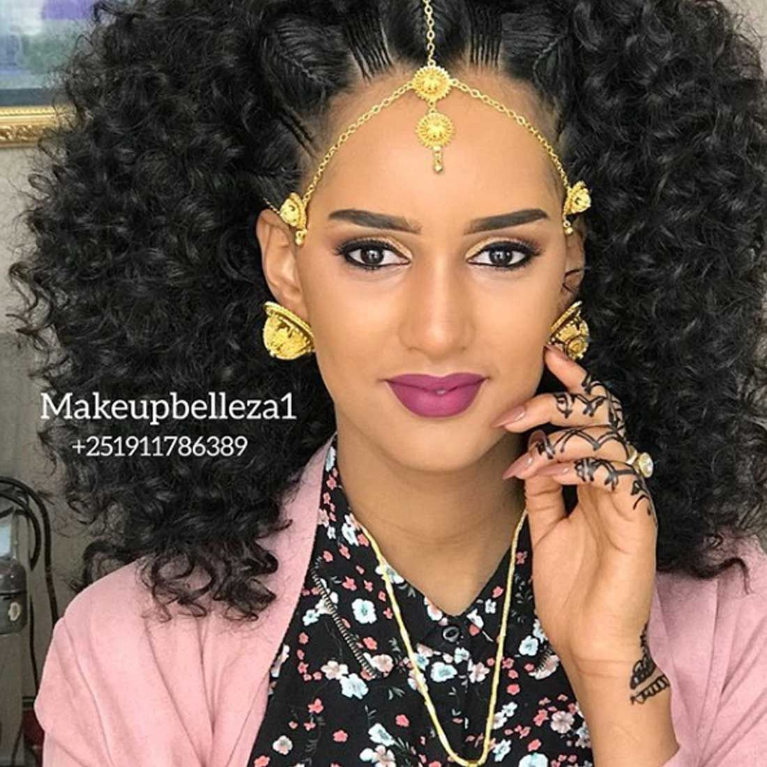 The Eyes Are The Windows Of The Soul Habeshainbeauty Make By Talented Makeupbelleza1 Ethiopian Hair Natural Hair Bun Styles Wedding Hair Inspiration