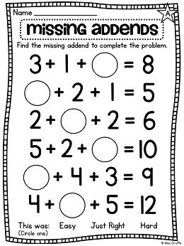 First Grade Math Unit 12 Adding 3 Numbers First Grade Math Worksheets Activities First Grade Math Math Worksheets First Grade Math Worksheets
