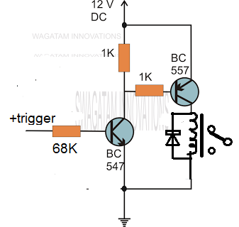 Transistor Relay Driver Circuit With Formula And Calculations Homemade Circuit Projects Circuit Projects Electrical Circuit Diagram Electronics Circuit