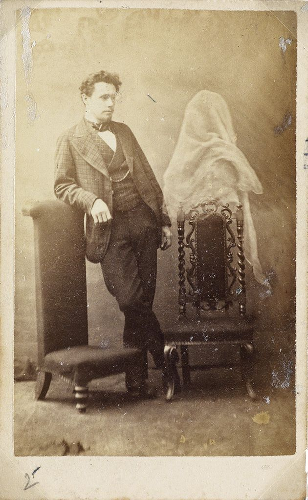 Swann Galleries SPIRITUALISM Group Of 10 Cartes De Visite The Famous Victorian Era British Medium Georgiana Houghton By Frederick Hudson