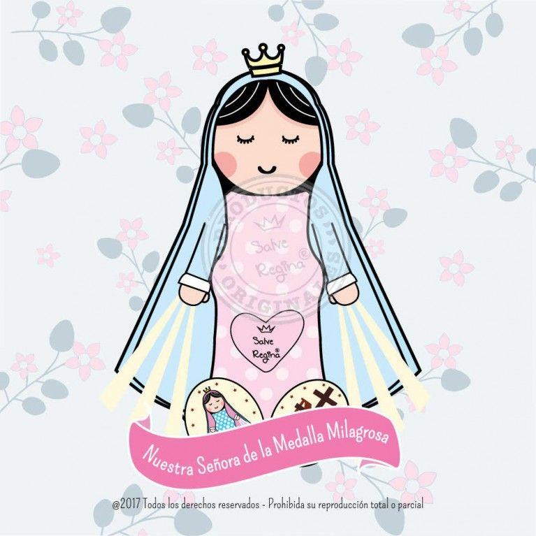 Nuestra Senora De La Medalla Milagrosa Santoral En 2020 Oracion Virgen Milagrosa Virgen Caricatura Santoral