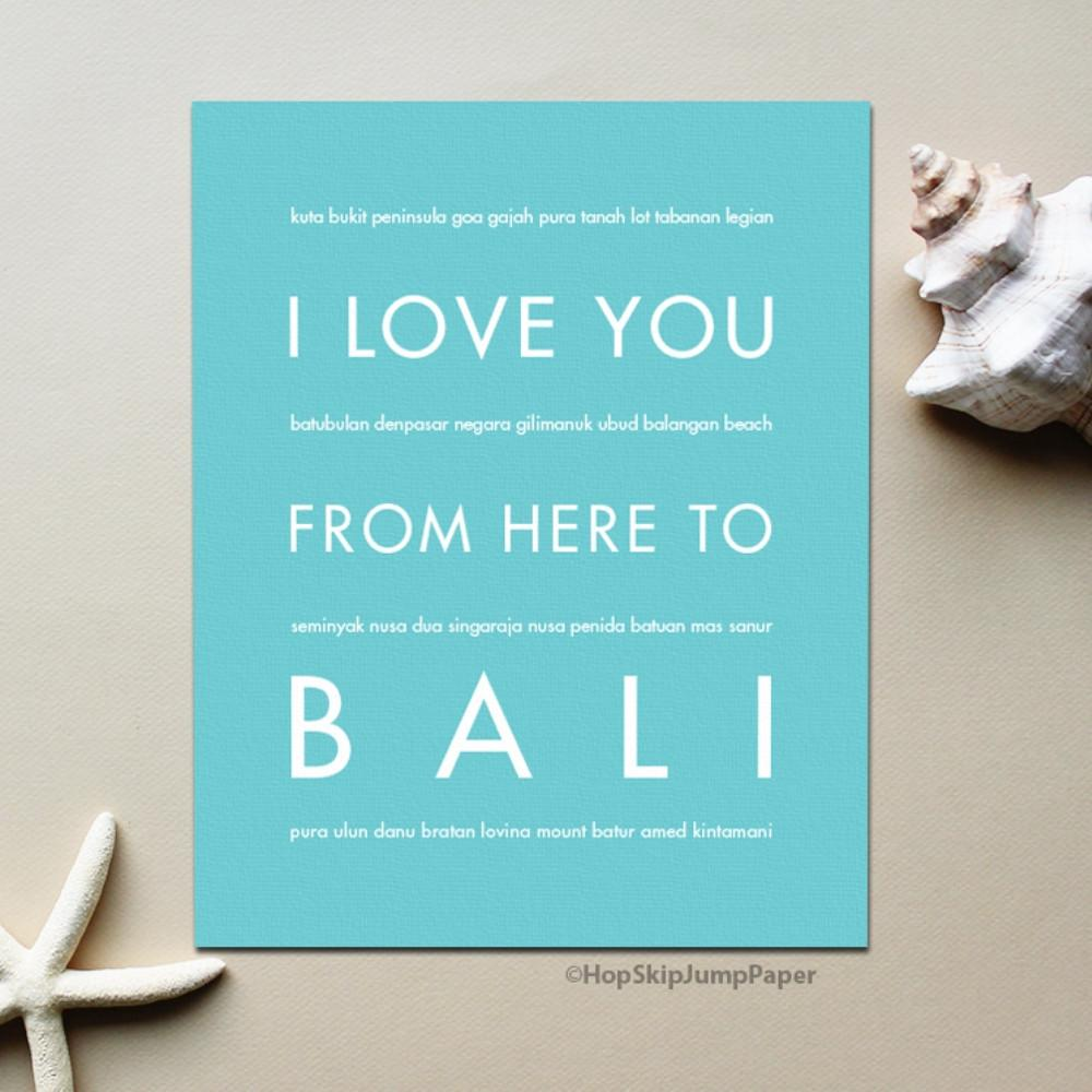 BALI Vacation Poster | Gift Idea | HopSkipJumpPaper