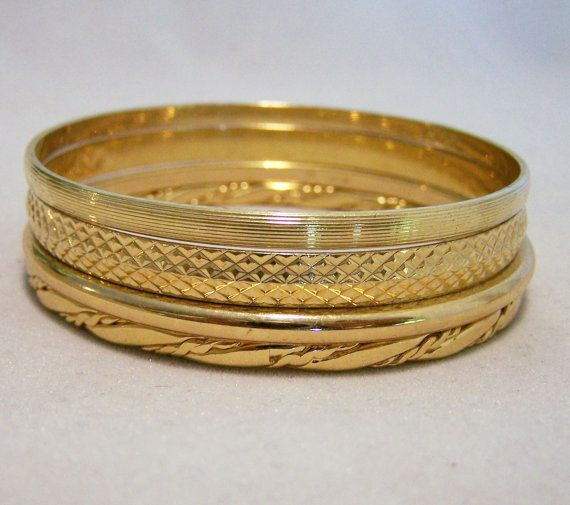 gold bangles m monet small bracelet poshmark listing vintage bangle
