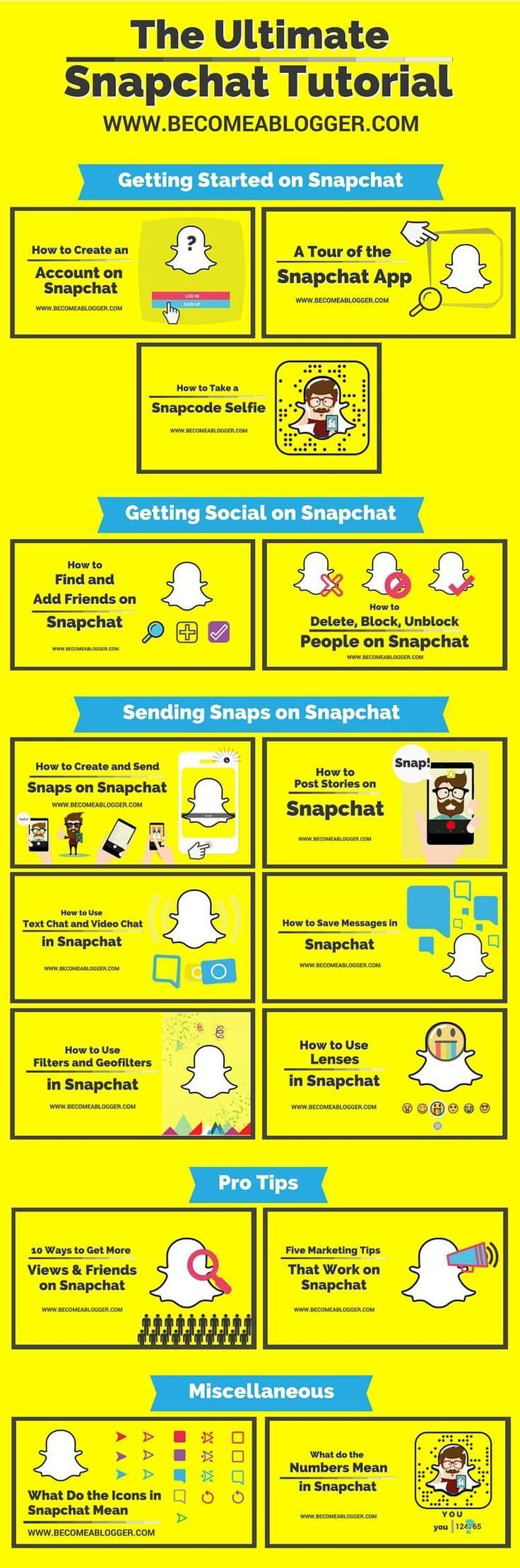 The ultimate snapchat tutorial snapchat icons and tutorials biocorpaavc Gallery