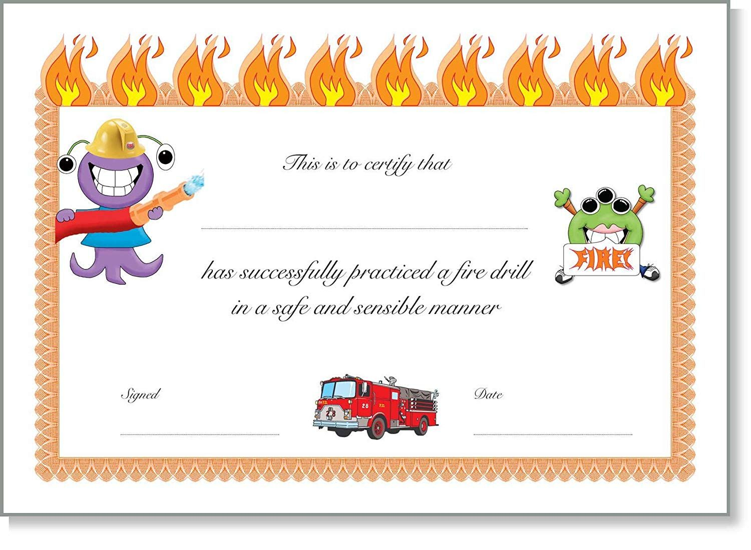 11 Firefighter Certificate Templates Free Printable Word Pdf