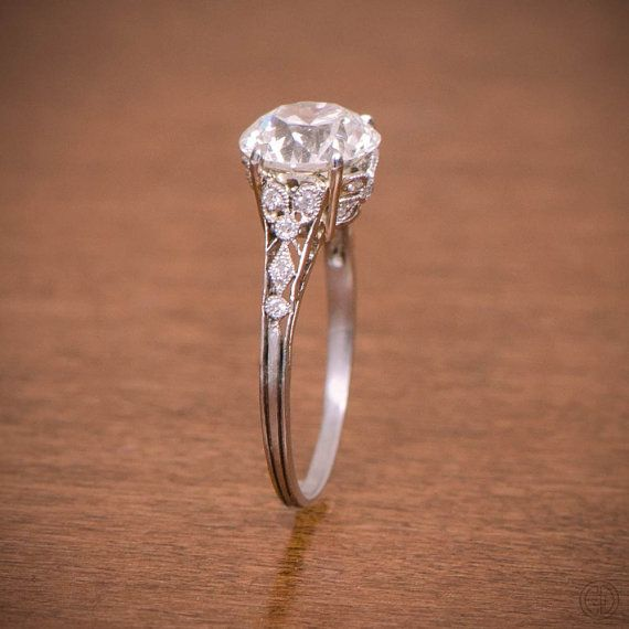 Edwardian Style Engagement Ring Platinum And Diamond Ring In 2018