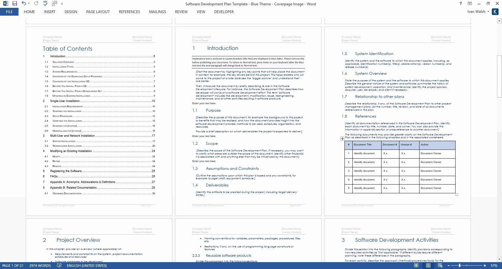 Software Development Project Plan Template Unique Software Development Plan Template Ms In 2021 Software Development Software Projects Teacher Letter Of Recommendation Ms project software development template