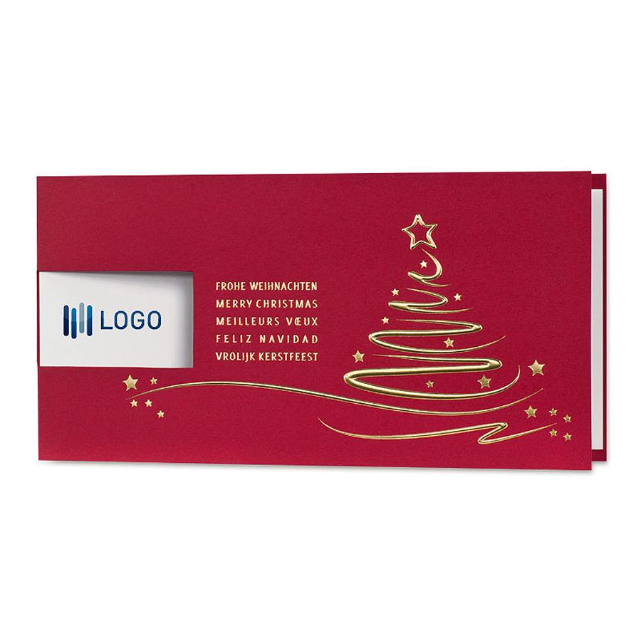 Rote Weihnachtskarten.Rote Weihnachtskarten Mit Firmenlogo Christmas Weihnachten