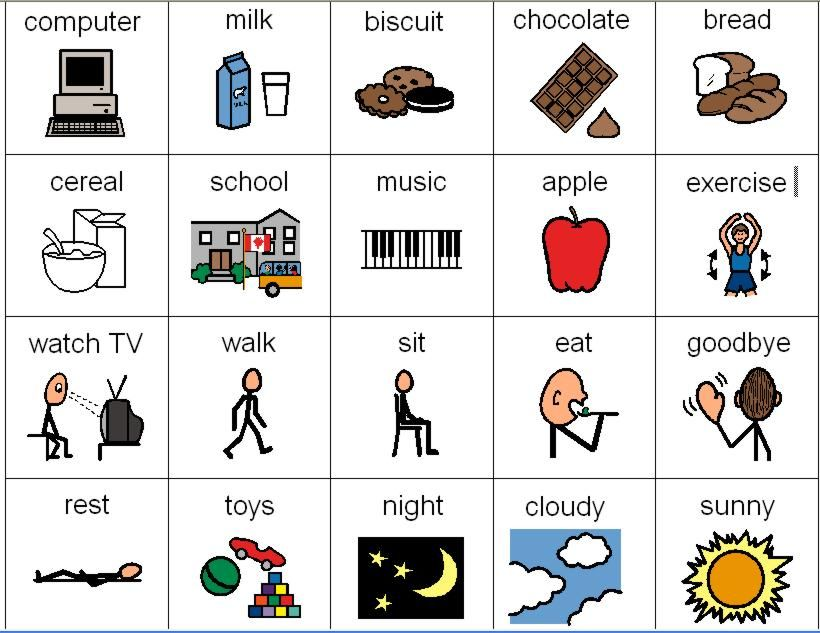 Many PECS icons on this website | Autism | Pinterest | Logopädie ...