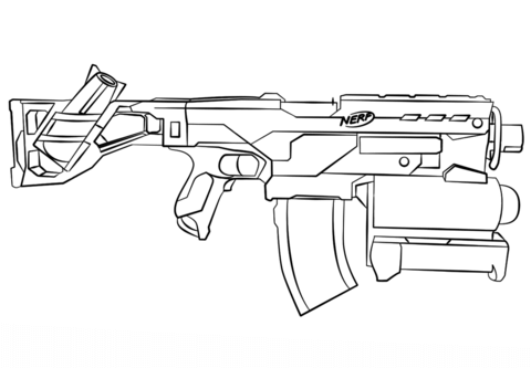 Nerf Gun coloring page from Misc. Toys and Dolls category. Select ...