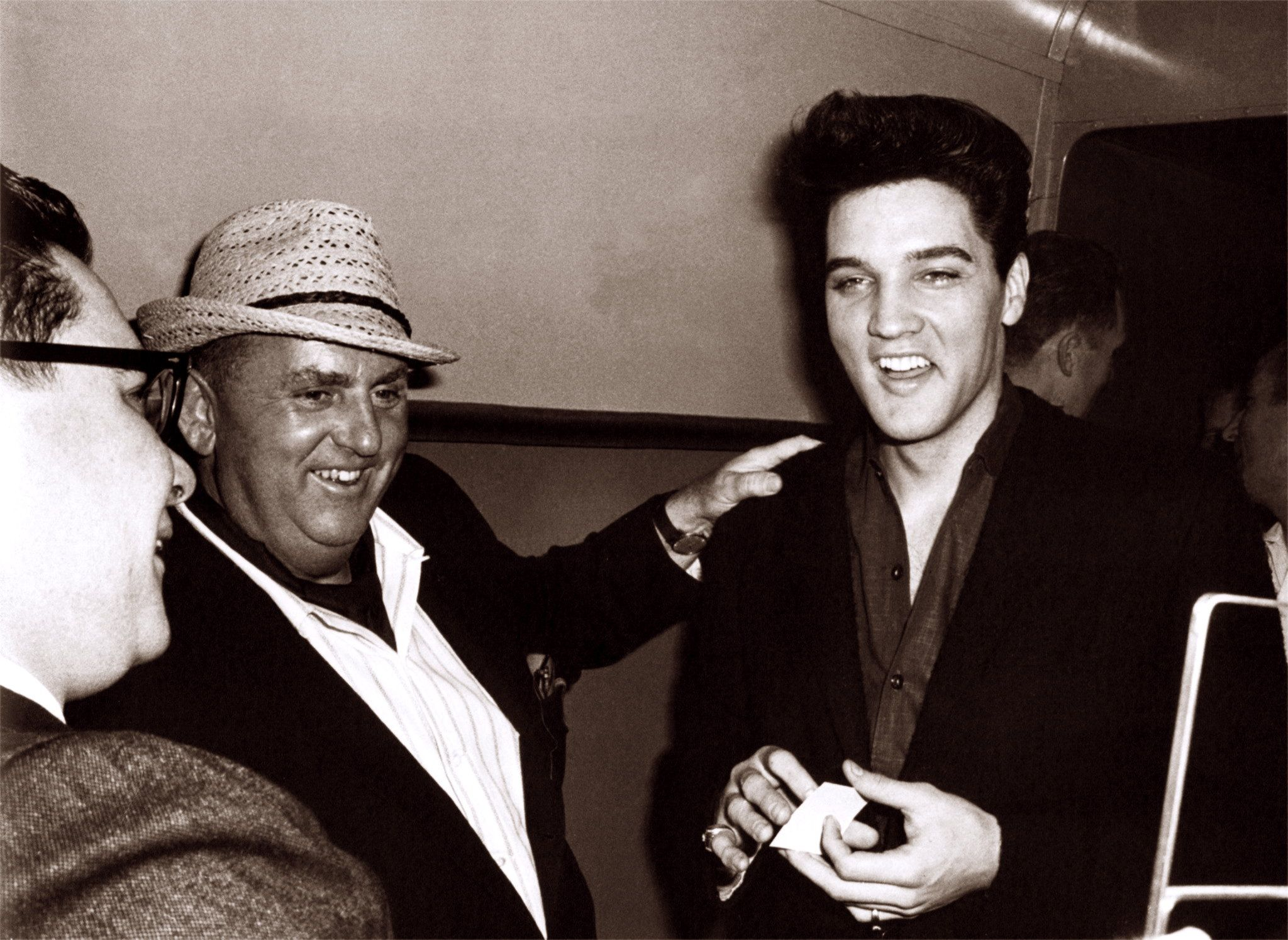 Elvis in Memphis in april 18 1960 with his manager, Colonel Parker.