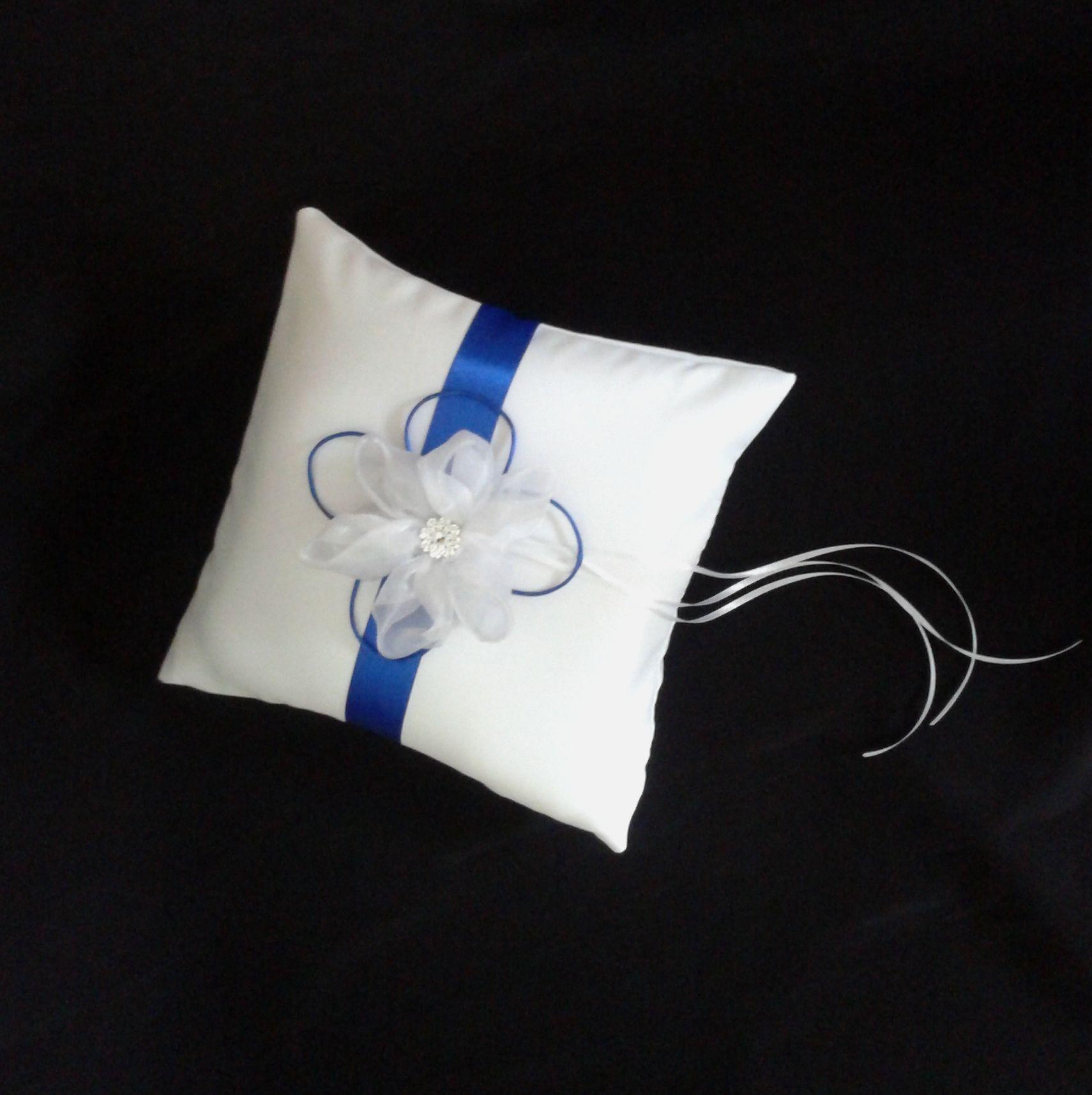 CO_120 Cojin para Anillos Blanco Azul Rey #bodas   bodas   Pinterest ...