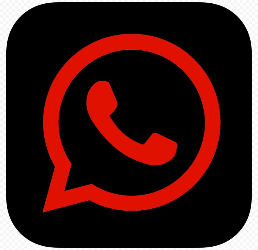 Hd Dark Red Black Whatsapp Wa Square Logo Icon Png Square Logo Logo Icons Black And Red