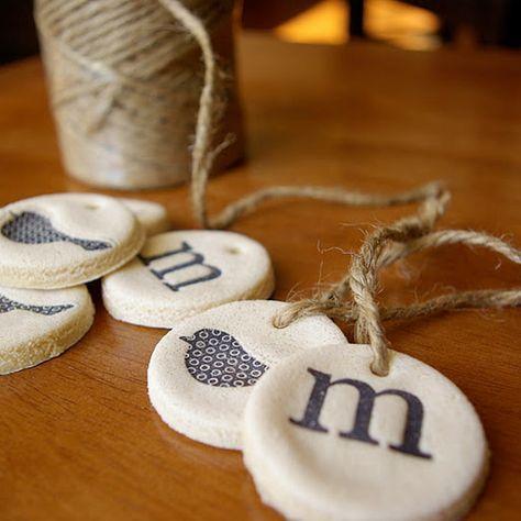 salt dough ornaments and gift tags | craftgawker #saltdoughrecipe