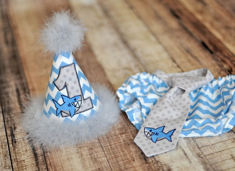 Birthday Party Hat Diaper Cover Tie
