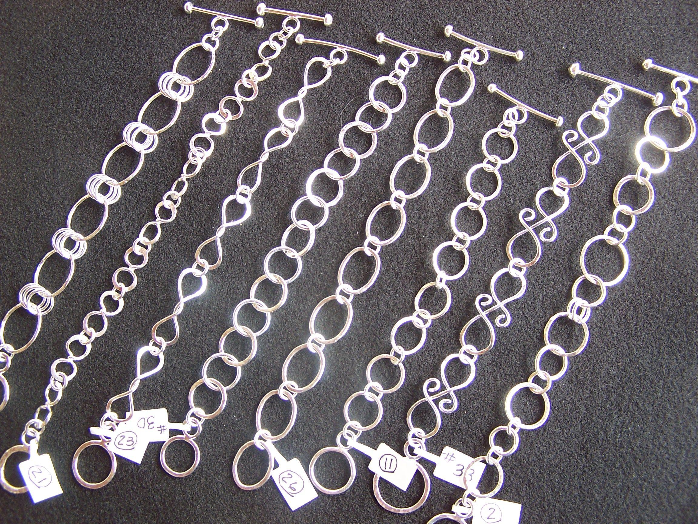 Hand forged sterling silver bracelets by DenaJonesDesigns.com ...