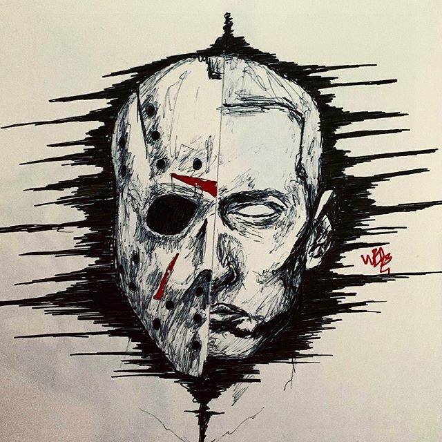 New The 10 Best Tattoo Ideas Today With Pictures Jason X Slim Shady Art Dark Darkart Artist Eminem J Eminem Drawing Eminem Tattoo Archangel Tattoo