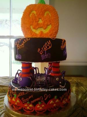 Coolest Homemade Halloween Birthday Cake for a 6 Year Old