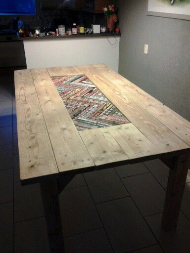 Dining Table With Hockey Sticks