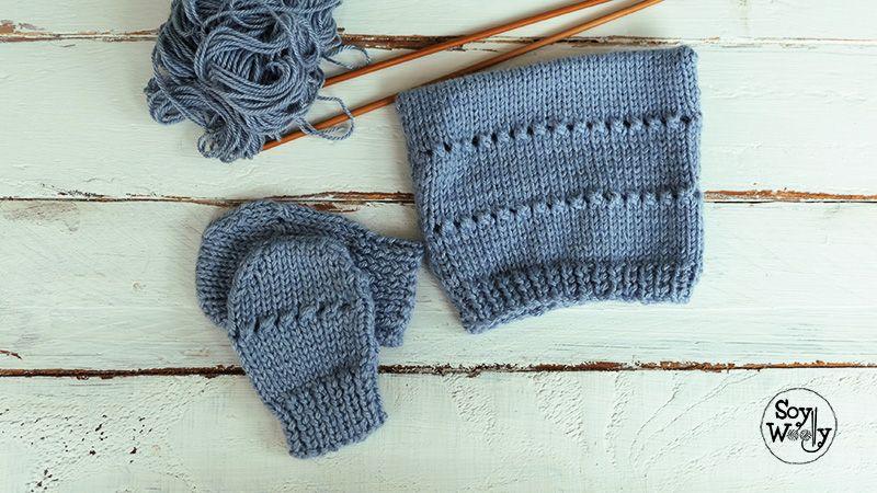 Gorrito de bebe para principiantes tejido dos agujas | Pinterest ...