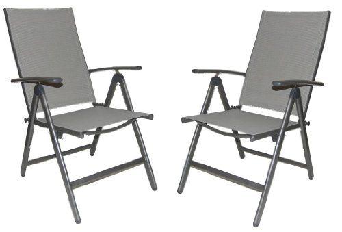 Elegant Folding Reclining High Back Patio Dining Chairs Set Of 2