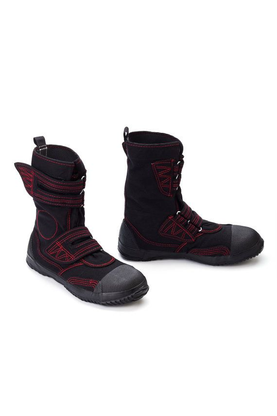 03b99f0fcf31f Fugu Japanese Unisex Vegan Cool Boots Red Stitch Black | Shoes ...