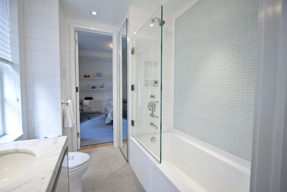 Visiting Devonshire House S New Uptown Cousin Philip House House Jack And Jill Bathroom Shower Tile
