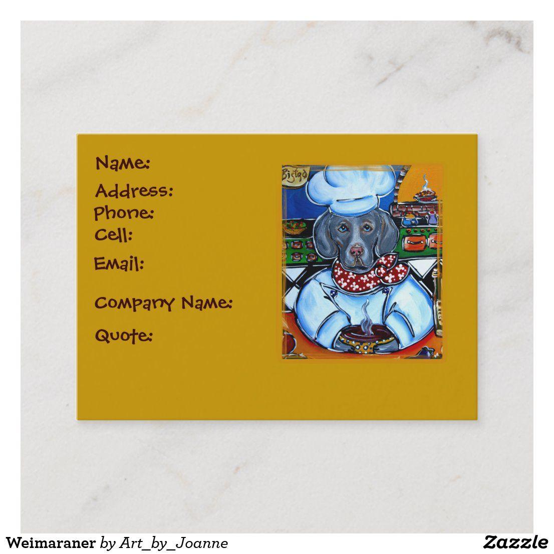 Weimaraner Business Card Weimaraner, Dog