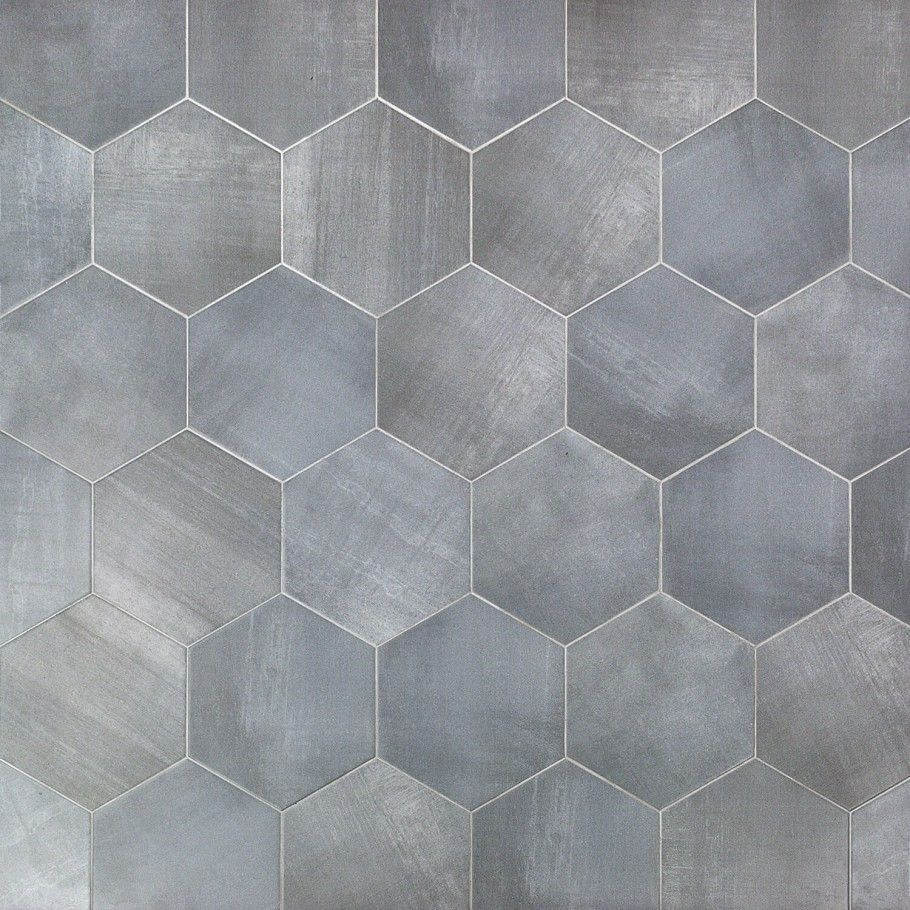 Paige Grigio 10 Tile Floor Porcelain Flooring Hexagon Tiles