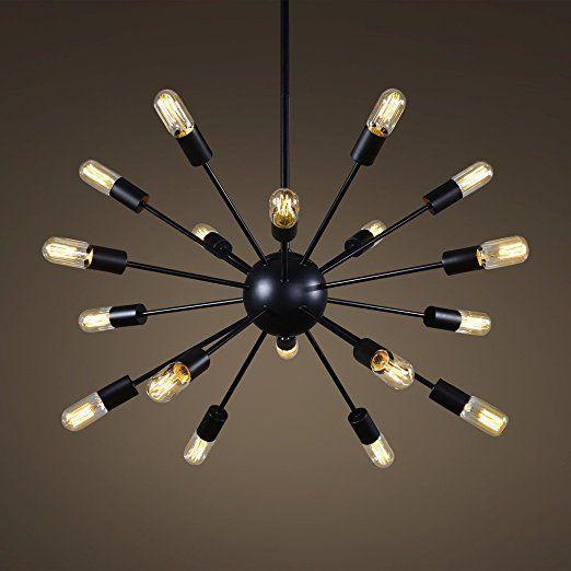 Glighone suspension industrielle plafonnier vintage rétro multiple e27 lustre edison culot abat jour luminaire en