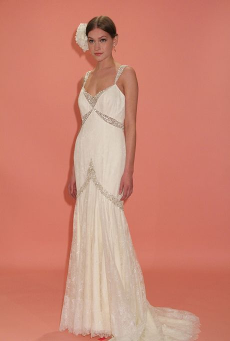 Editorial Photos Bridal Gowns 1920s Inspired Wedding Dresses Badgley Mischka