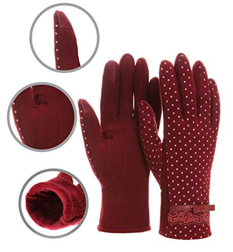 d705621f209 WENER Women s Fashion Screen Touch Gloves Warm Lined Thick Warmer Winter  Gloves
