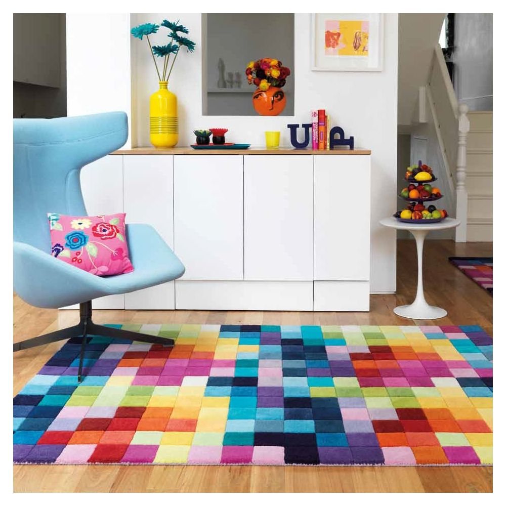 BRILLANCE ZAG rouge | Tapis de salon, Tapis et Salon
