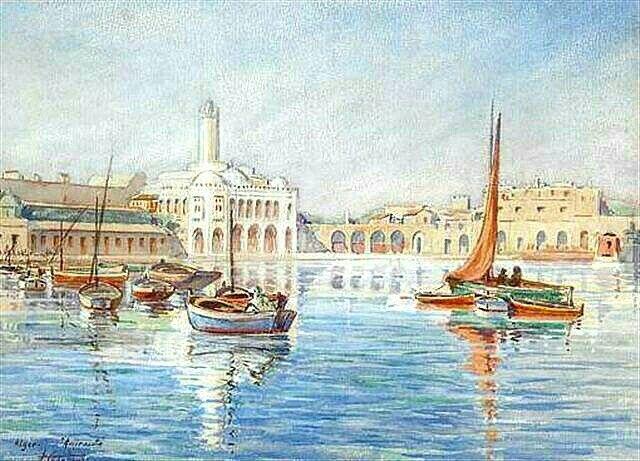 Peinture D Algerie Peintre Francais Andre Casabonne 1922
