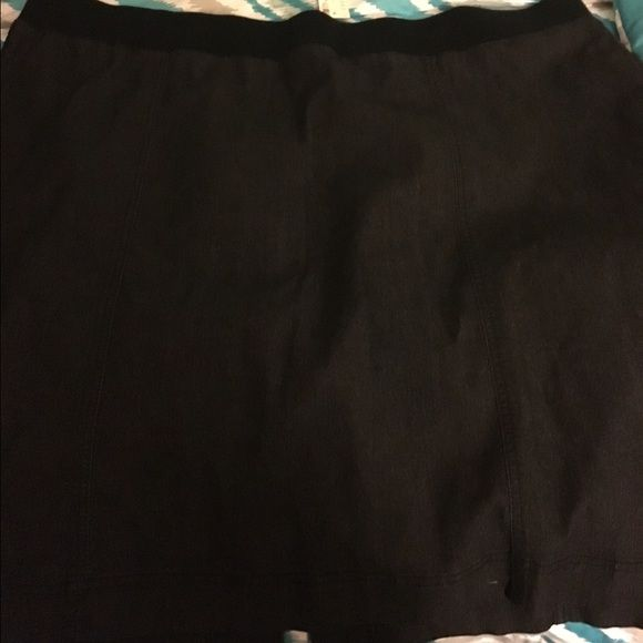 New With Tags Avenue Denim Skirt Size 26 Avenue black denim skirt. Size 26.  Tags attached. Pull on elastic waist.   Important:  bundle discount available!!!!!   I make sure all items are freshly laundered as applicable (shoes and tagged items, I don't remove the tags and wash).  However, not all my items come from pet/smoke free homes.    Low pricing reflective of this. Thank you for looking! Avenue Skirts