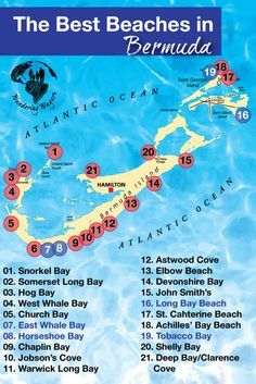 Bermuda Map Beaches In Search of the Best Bermuda Beach | Vacations | Bermuda travel