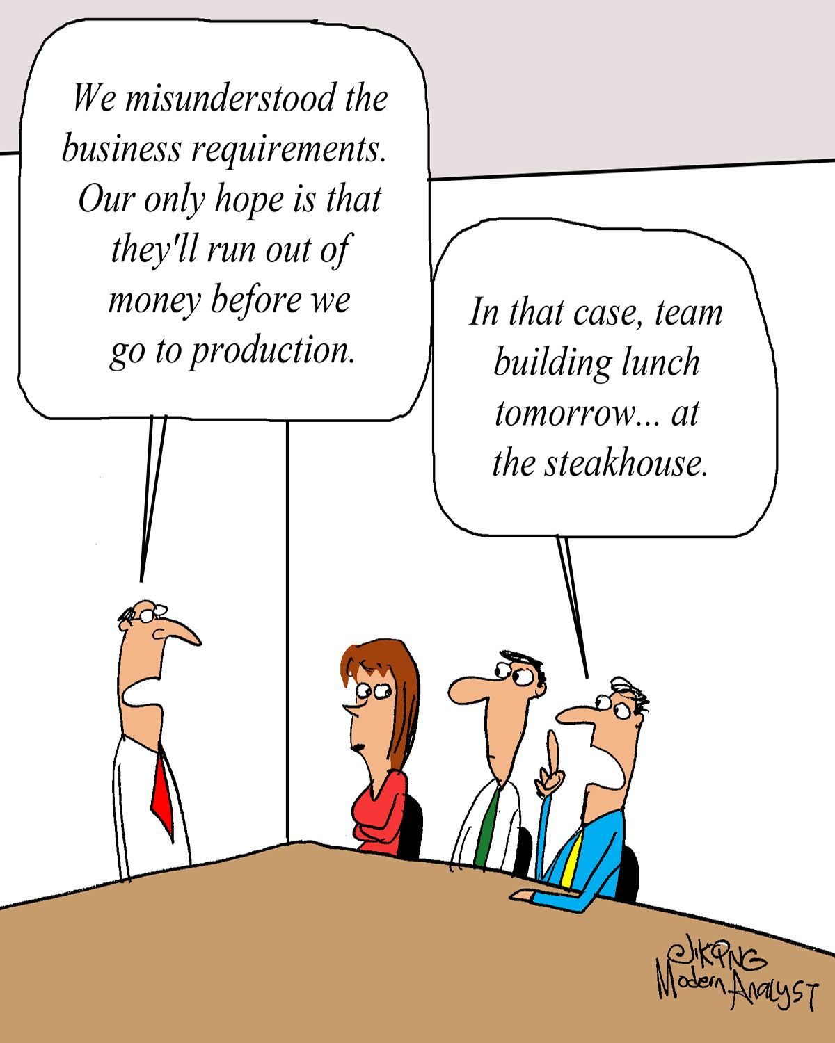 Humor Cartoon We Misunderstood The Business Requirements
