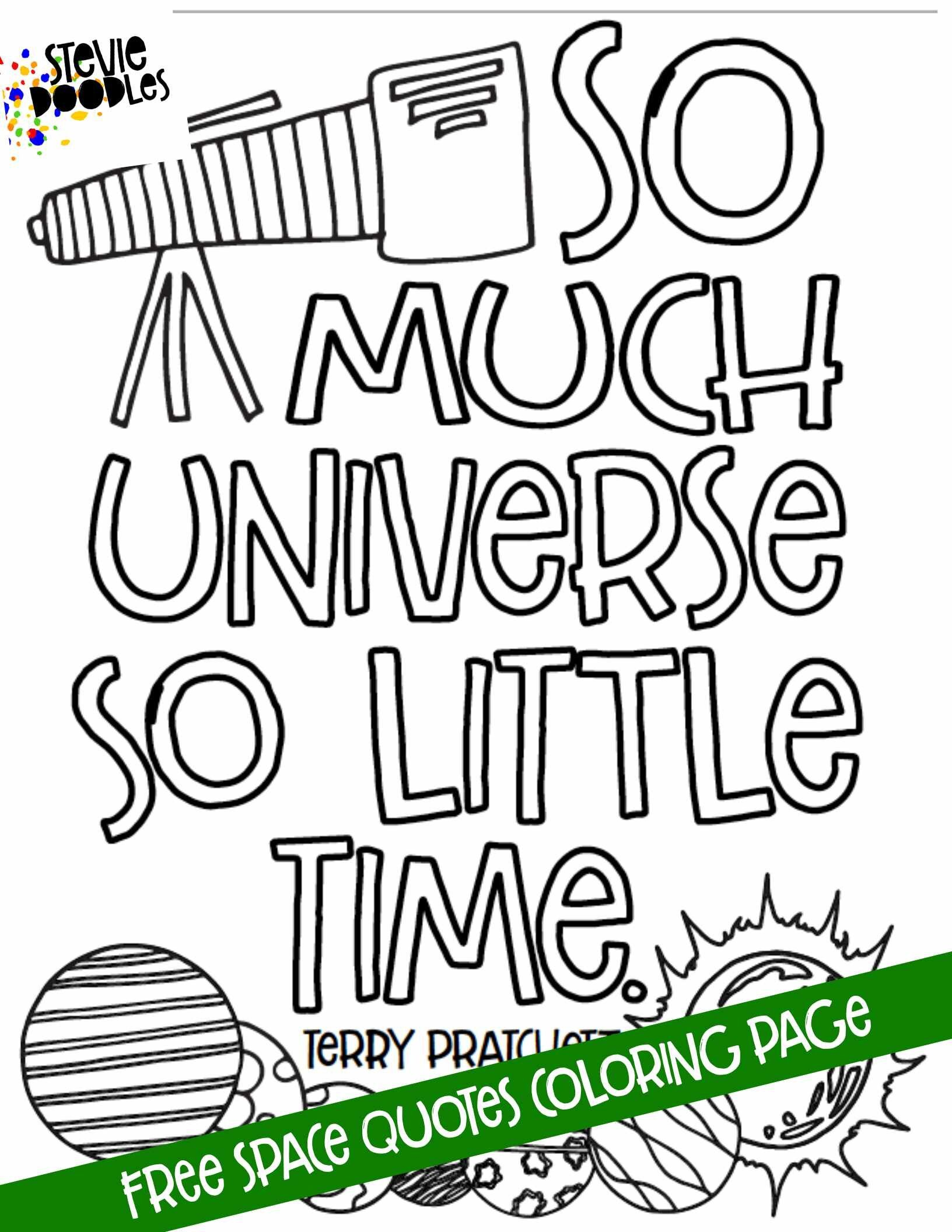 Space Quotes 5 Free Printable Coloring Pages Stevie Doodles Space Quotes Teacher Worksheets Super Teacher Worksheets [ 2112 x 1632 Pixel ]