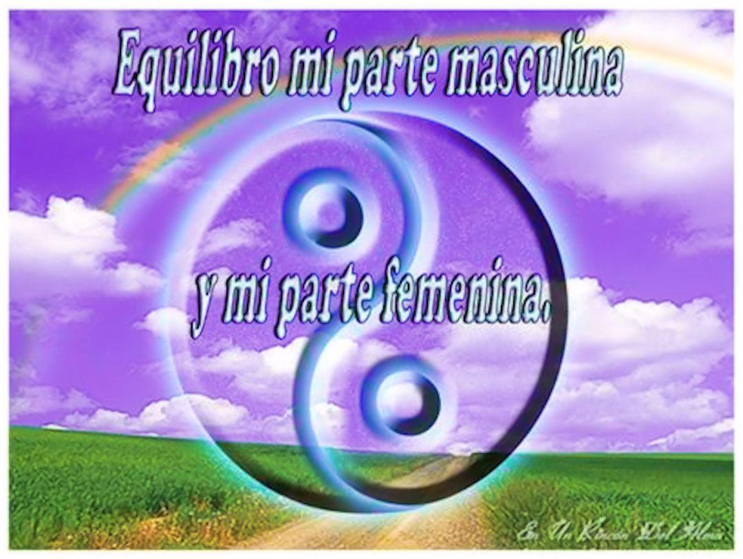 Equilibro mi parte masculina y mi parte femenina. | Partes femeninas ...