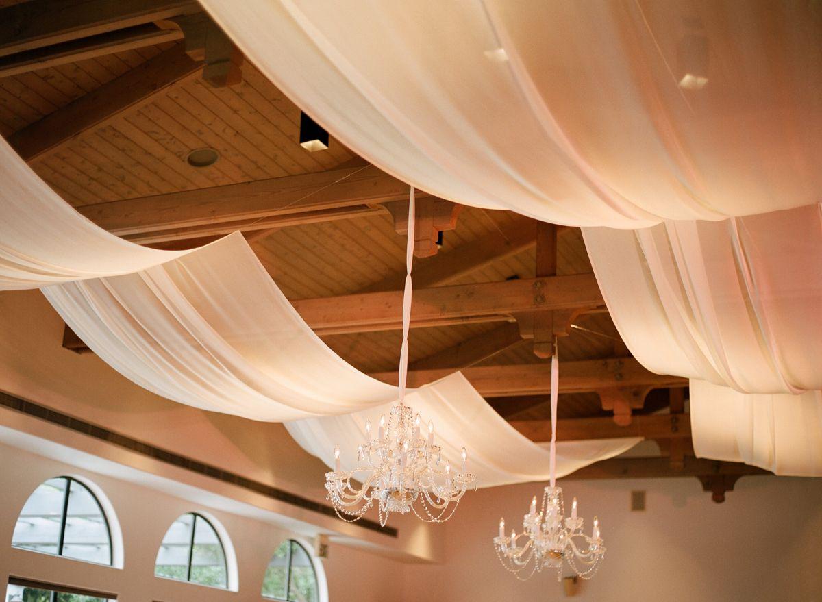 Simple Yet Elegant Wedding Dresses: Greek Church Draping & Chandeliers